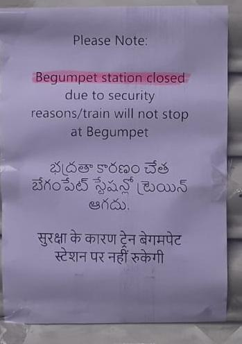 Metro STATION BEGUMPET