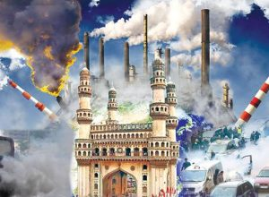 ఫైర్ క్రాకర్స్ తో హైదరాబాద్లో కమ్ముకున్న కాలుష్యం..!