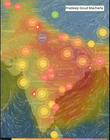 ఢిల్లీ వాయు కాలుష్యం దేశంలోని ఇతర ప్రాంతాలకు పాకవచ్చని ఉపగ్రహ చిత్రాల సూచన