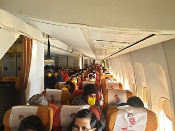 Indians Evacuated From China