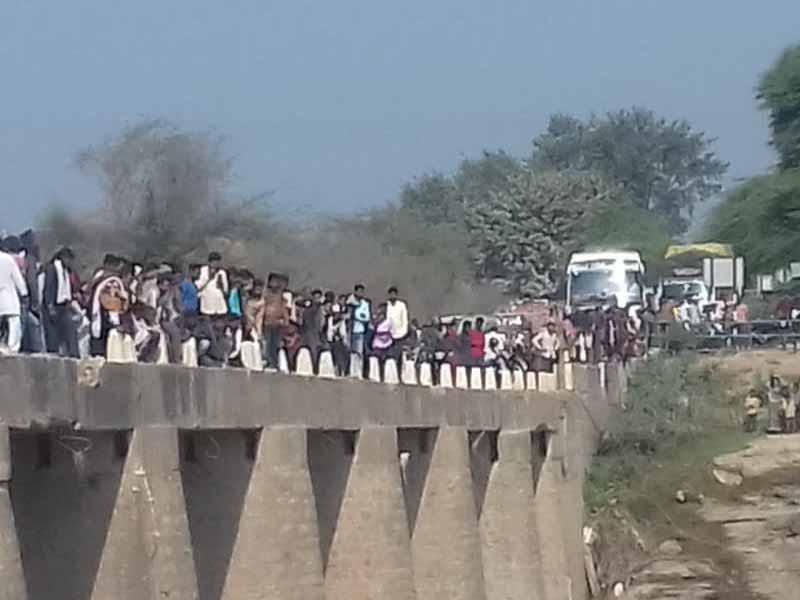 Rajasthan bus falls into a river