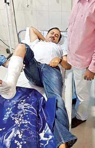YCP MLA Alla Ramakrishna Reddy Injured