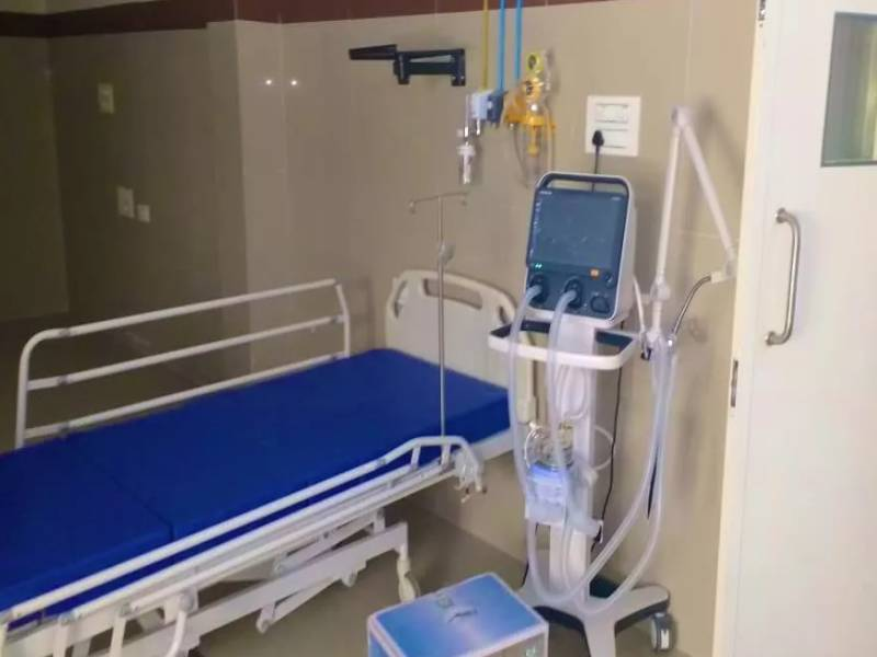 350 bed hospital for corona patients