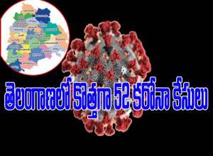 తెలంగాణలో నేడు కొత్తగా మరో 52 కరోనా కేసులు