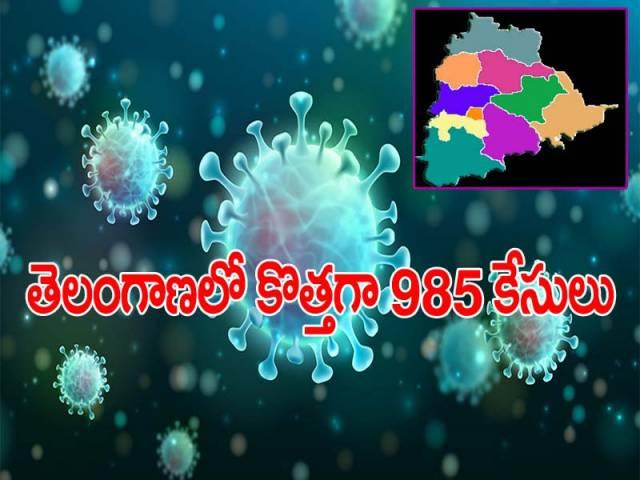 తెలంగాణలో కరోనా ఉగ్రరూపం.. కొత్తగా 985 కేసులు