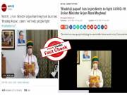 Fact Check : ఆ అప్పడాలు తింటే కరోనా వైరస్ ను తరిమేయొచ్చని చెబుతున్న యూనియన్ మినిస్టర్ మేఘవాల్..!