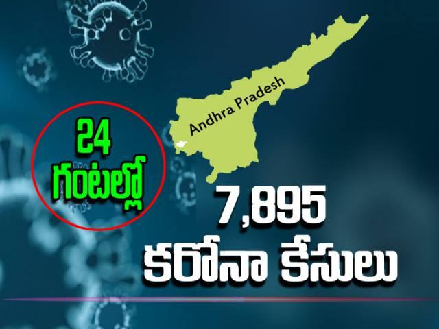 ఏపీలో కొత్తగా 7,895 కరోనా పాజిటివ్ కేసులు