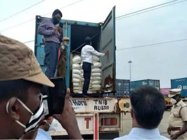 చెన్నై లోని అమ్మోనియం నైట్రేట్ ను కొన్న హైదరాబాద్ వ్యాపారి